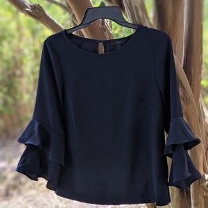 J Crew Tiered Bell Sleeve Blouse